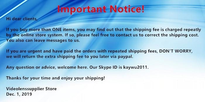 Important notice about shipping fees!