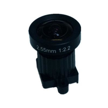 "1/2.3"" 2.55mm 14Megapixel M12x0.5 Mount 162degrees wide angle lens for HD sensors"