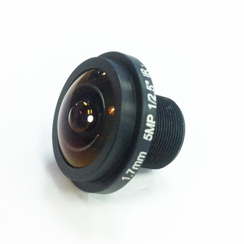 "1/2.5"" 1.7mm F2.0 5MP Megapixel M12*0.5 mount 185degree IR Fisheye Lens, 360VR panoramic lens"