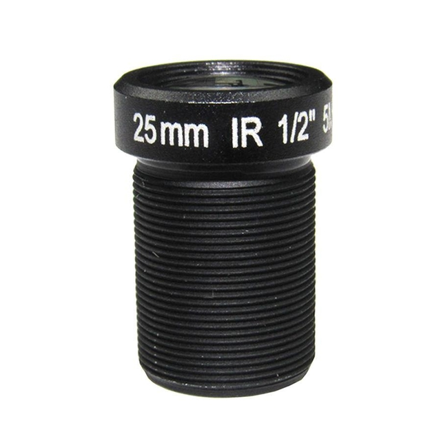"1/2"" 25mm F2.4 5Megapixel M12x0.5 mount low-distortion IR CUT board lens, long focal S mount lens"