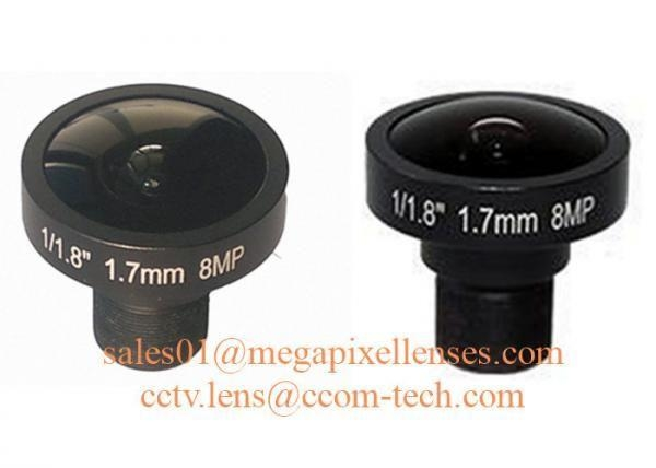 "1/1.8"" 1.7mm 8Megapixel M12x0.5 mount 185degree Fisheye Lens for IMX178/IMX172/OV23850"