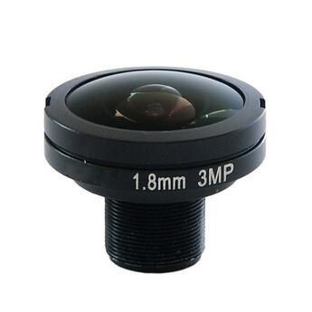"1/1.8"" 1.8mm 3Megapixel M12x0.5 mount 185degree Fisheye Lens for 1/1.8"" 1/2.7"" 1/3.6"" sensors"