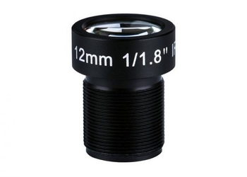 "1/1.8"" 12mm Megapixel F1.8 S Mount M12x0.5 Non-Distortion IR Board Lens"