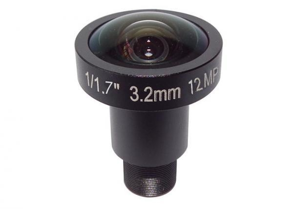 "1/1.7"" 3.2mm 12Megapixel M12 mount 160degree wide angle lens, 4K lens for 1/1.7"" 1/1.8"" 1/2.3"" sensors"
