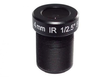 "1/2.5"" 4mm/6mm/8mm/12mm F2.0 5Megapixel M12x0.5 S-mount fixed focal lens, prime lens for security cameras"