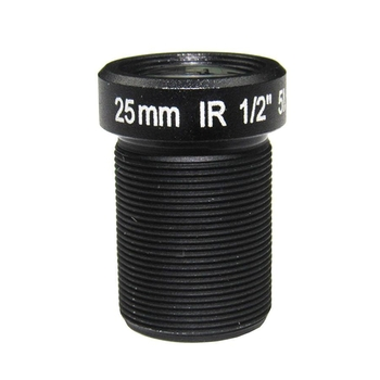 "1/2"" 25mm F2.4 5Megapixel M12x0.5 mount low-distortion IR board lens, long focal S mount lens - Videolenssupplier.com"