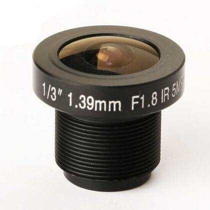 "1/3"" 1.39mm F2.0 5Megapixel S mount M12 185degree IR Cut Fisheye Lens, 360VR panoramic lens"