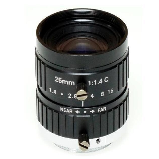 "2/3"" 25mm F1.4 Megapixel 10MP Manual IRIS C Mount FA Industrial Lens, 25mm machine vision industrial lens"