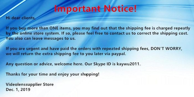 Important notice about repeated shipping fees!