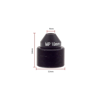 "1/2.7"" 10mm F1.6 2MP Megapixel M12x0.5 mount Sharp Cone IR Pinhole Lens for covert cameras, 10mm M12 pinhole lens"