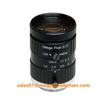 "2/3"" 12mm F1.6 Megapixel Manual IRIS C Mount Industrial FA Lens, 12mm 5MP machine vision industrial Lens - Videolenssupplier.com"