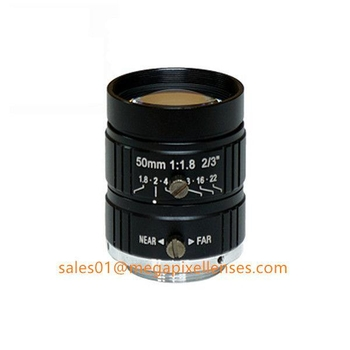 "2/3"" 50mm F1.8 5Megapixel Manual IRIS C Mount Industrial FA Lens, 35mm 5MP Non Distortion Industrial Lens - Videolenssupplier.com"
